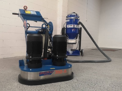 A Concrete grinder and Floor Polisher